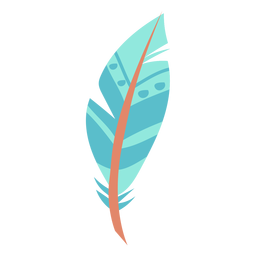 Feather blue simple