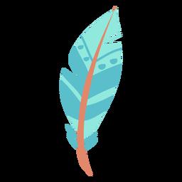 Pluma azul simple