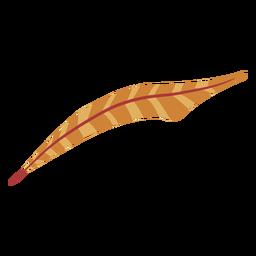 Pluma de color marrón a rayas