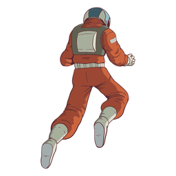 Float astronaut behind colored