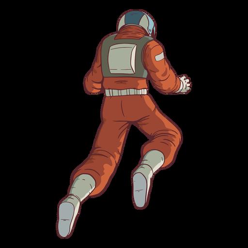 Astronauta flutuante atrás de cores