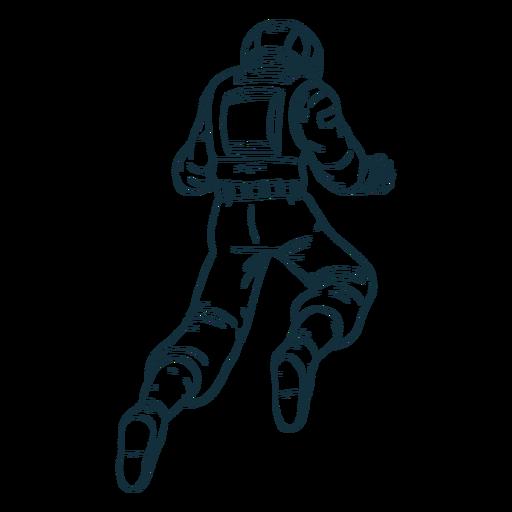 Float astronaut behind drawn