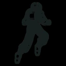 Astronauta flotante dibujado detrás