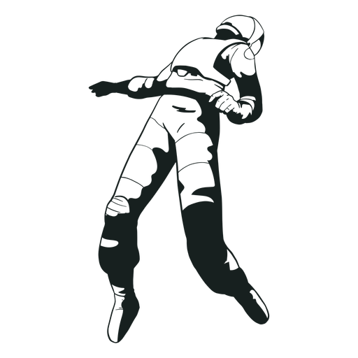 Floating astronaut cool drawn