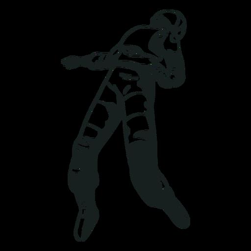 Schwimmender Astronaut kühl gezeichnet