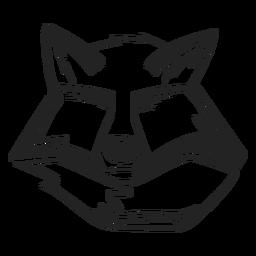 Fox ojos cerrados dibujados