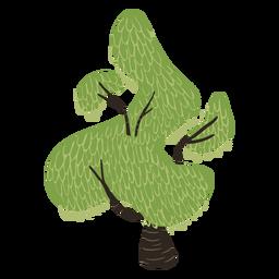Grüner seltsam geformter Baum