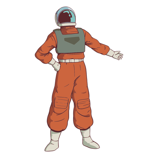 Hand on hip astronaut colored