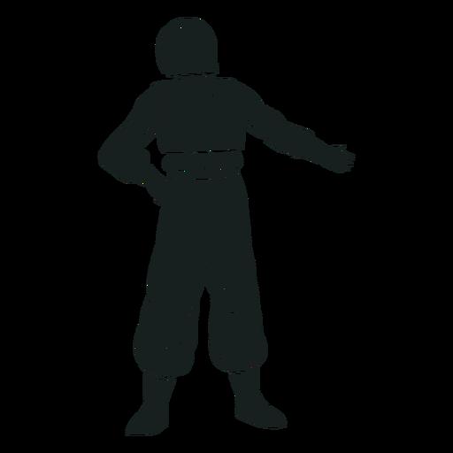 Hand on hip astronaut silhouette