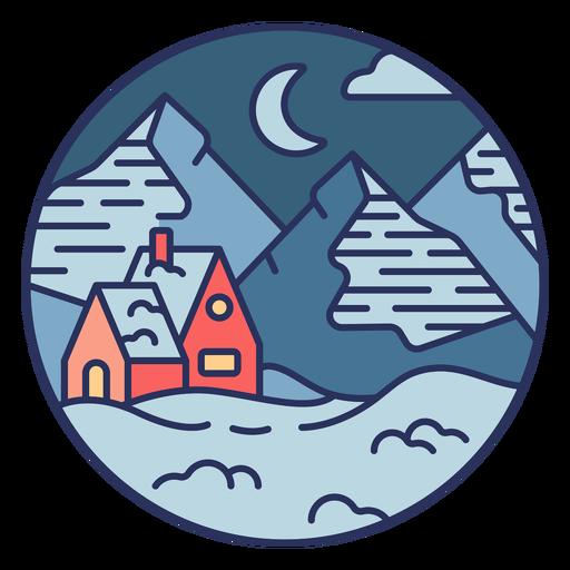 House snow landscape