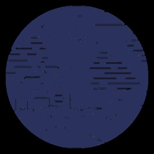 House snow landscape silhouette