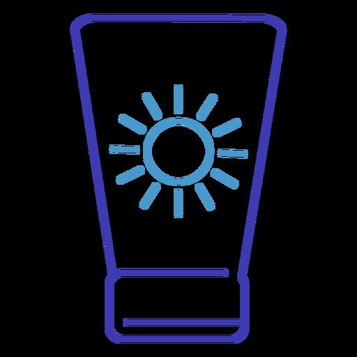 Icono de trazo de protector solar