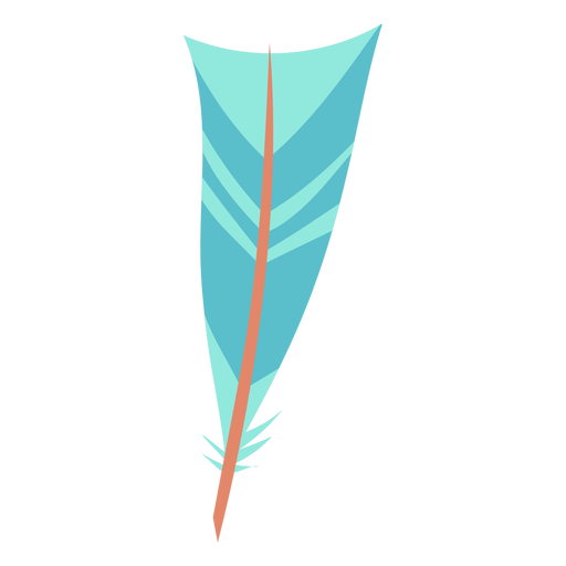 Inverted triangle blue feather