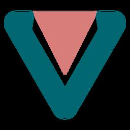 Pendiente de piel con triángulo invertido