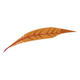 Leaf like brown colored feather