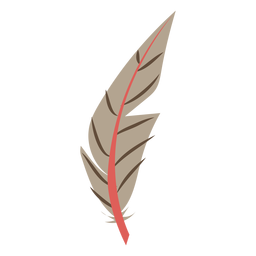 Leaf like brown feather