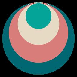 Pendiente de cuero círculo
