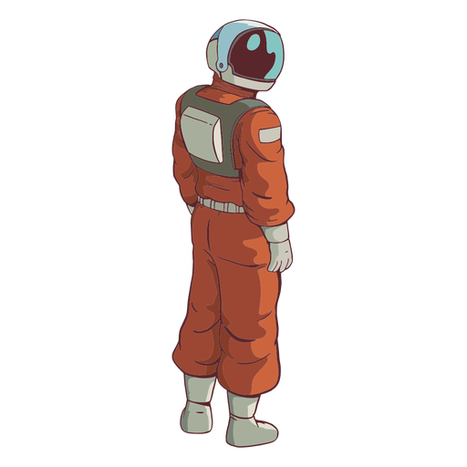 Looking side astronaut colored