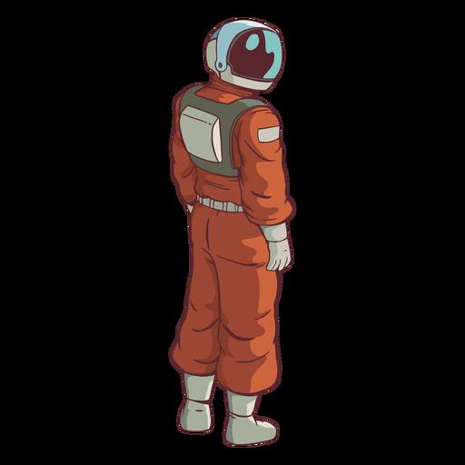 Schauende Seite Astronaut farbig