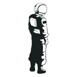 Looking side astronaut drawn cool