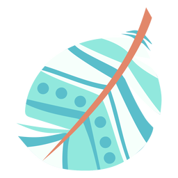 Pluma azul oblonga