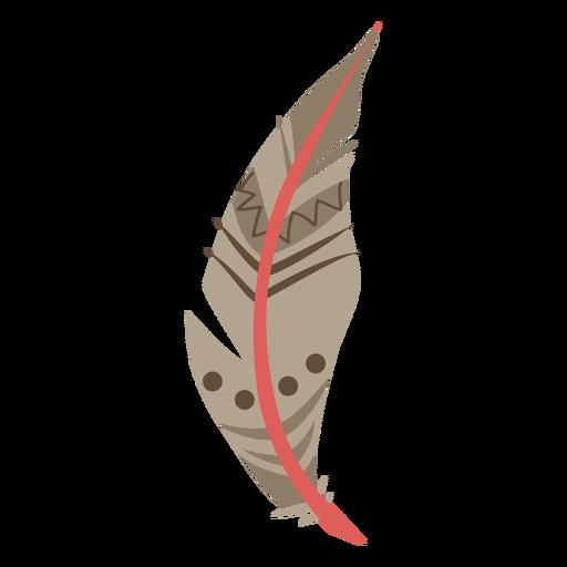 Pluma marrón estampada