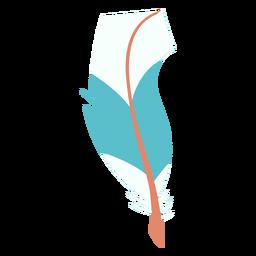 Peculiar shape blue feather