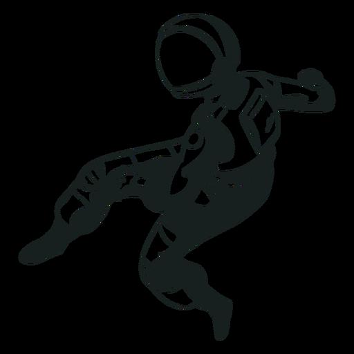 Pose astronauta genial Transparent PNG