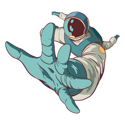 Alcanzando astronauta coloreado