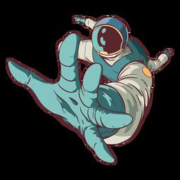 Alcanzando astronauta de color