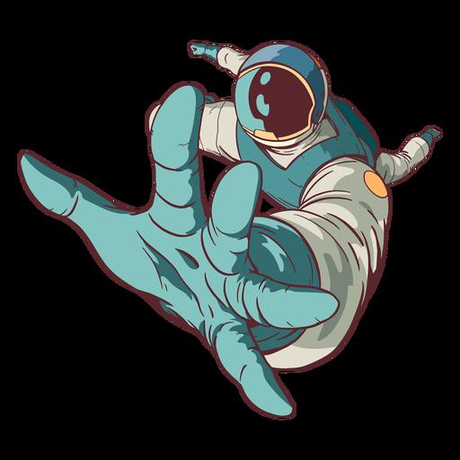 Alcanzando astronauta de color Transparent PNG
