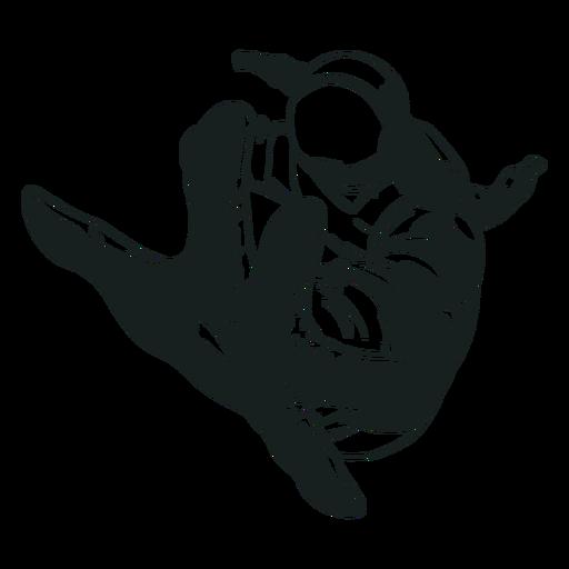 Alcançando o astronauta desenhado