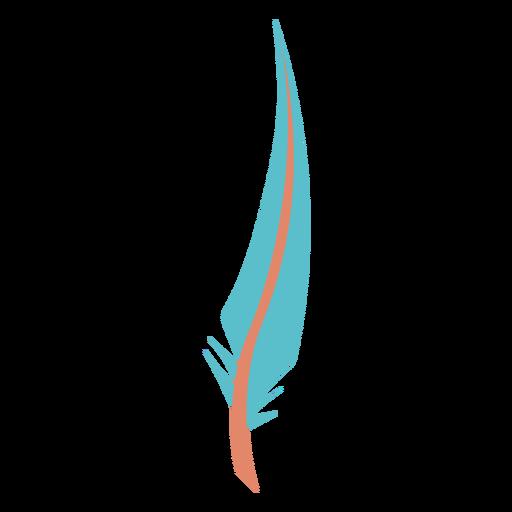 Sharp tip blue feather