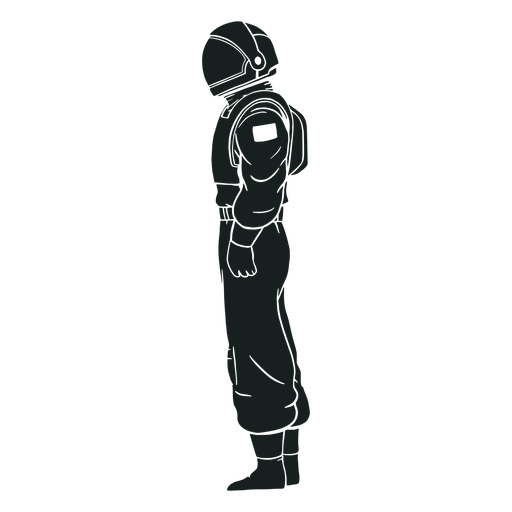 Silhouette astronaut side view