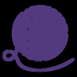 Silhueta grande bola de lã