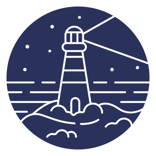 Silhouette snow landscape lighthouse