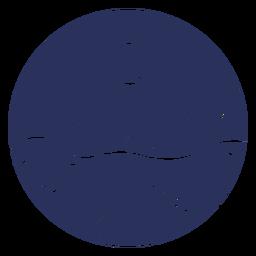 Silhouette Schneelandschaft Mond