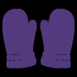 Silhouette wool gloves