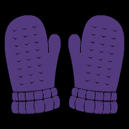 Guantes de lana silueta
