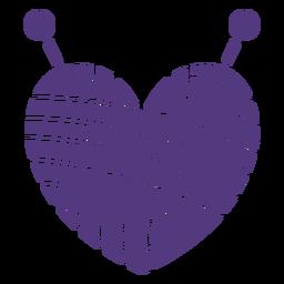 Hilo de corazón de lana de silueta
