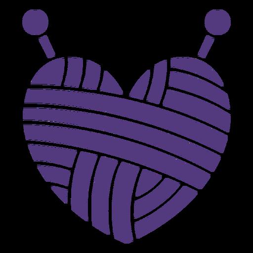 Silhouette wool heart yarn