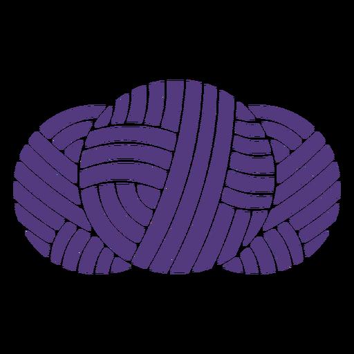 Bolas de lana de silueta