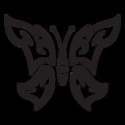 Mariposa de trazo de mariposa simple