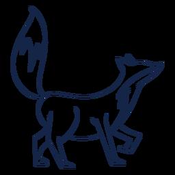 Einfache Fuchs-Seitenansicht