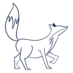 Vista lateral simples raposa
