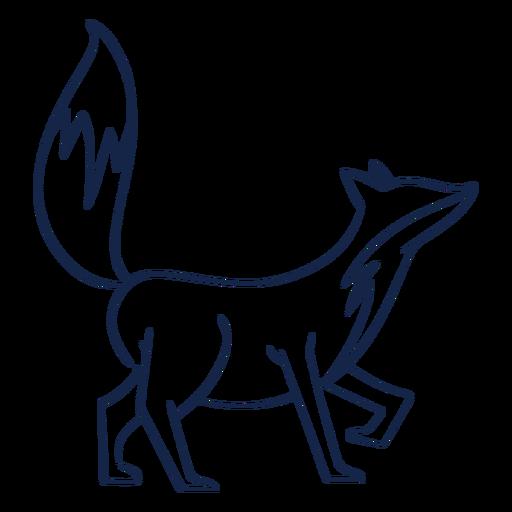 Vista lateral de zorro simple