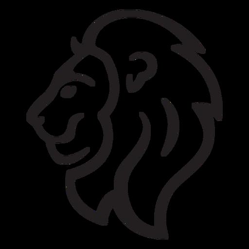 Simple lion stroke