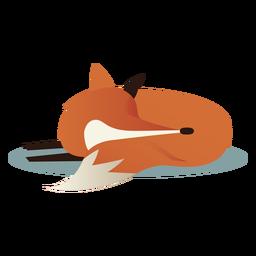 Einfacher schlafender Fuchs