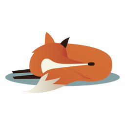 Simple sleeping fox