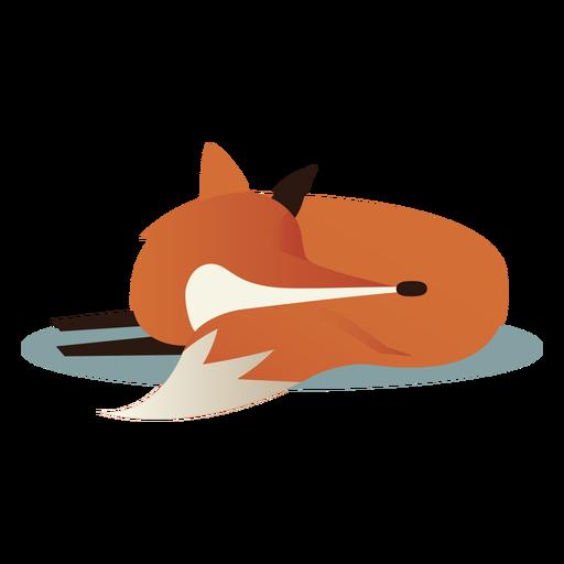 Raposa adormecida simples Transparent PNG